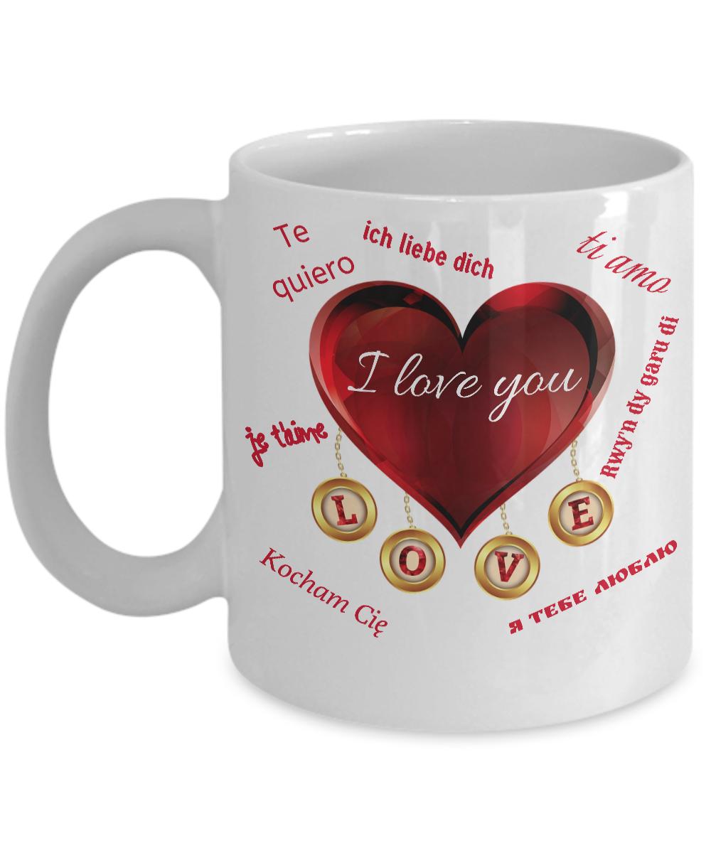 Te Quiero Red Heart Romantic Novelty Mug